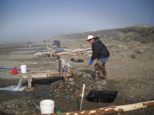 Typical Beach Box Setup on the beach in Nome, Alaska