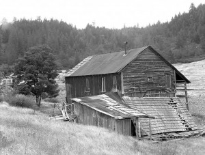 Barn in Waldo, Oregon 1950's Ghost Town