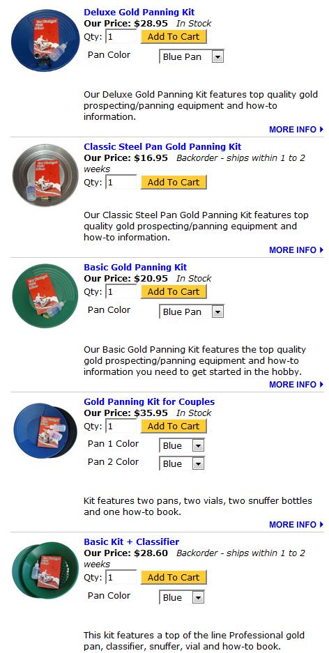 Gold Panning Kits