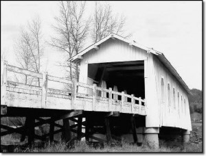 The picture famous Grave Creek covered bridge