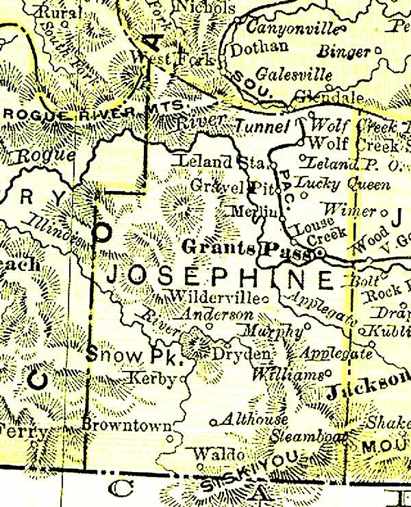 Josephine County in 1895