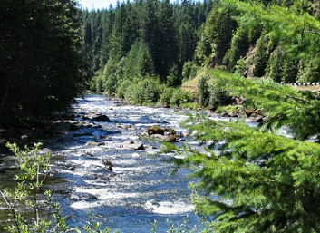 The Santiam River has good fishing and good gold.